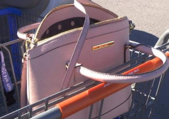 Purse in Grocery Cart